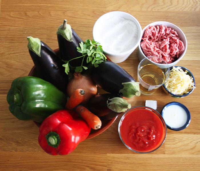 ingredientes berenjenas rellenas de carne