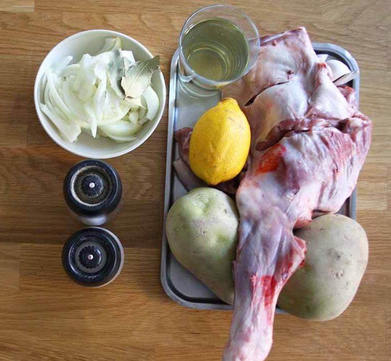 ingredientes para hacer pierna de cordero