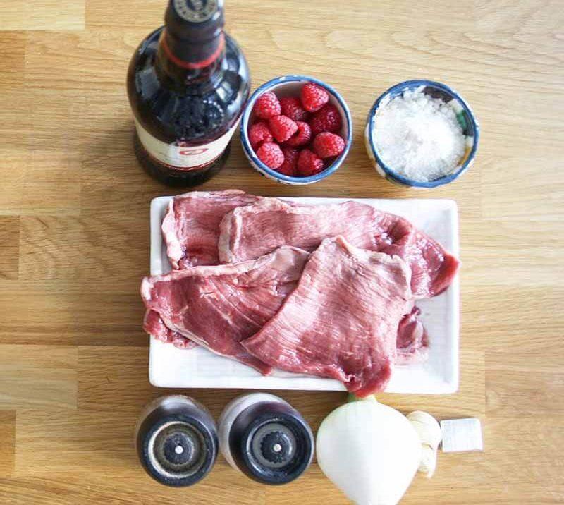 ingredientes para hacer escalopines de ternera