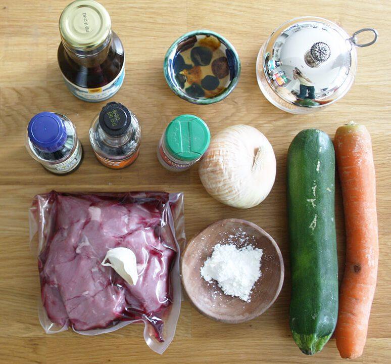 ingredientes chop suey de ternera