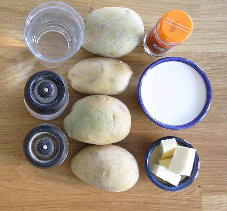 ingredientes puré de patata
