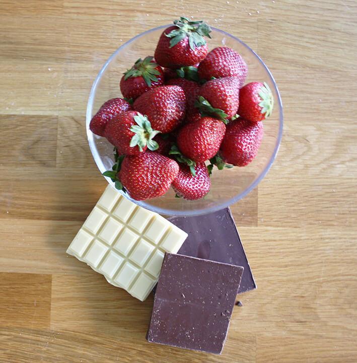 ingredientes fresas con frac (chocolate)