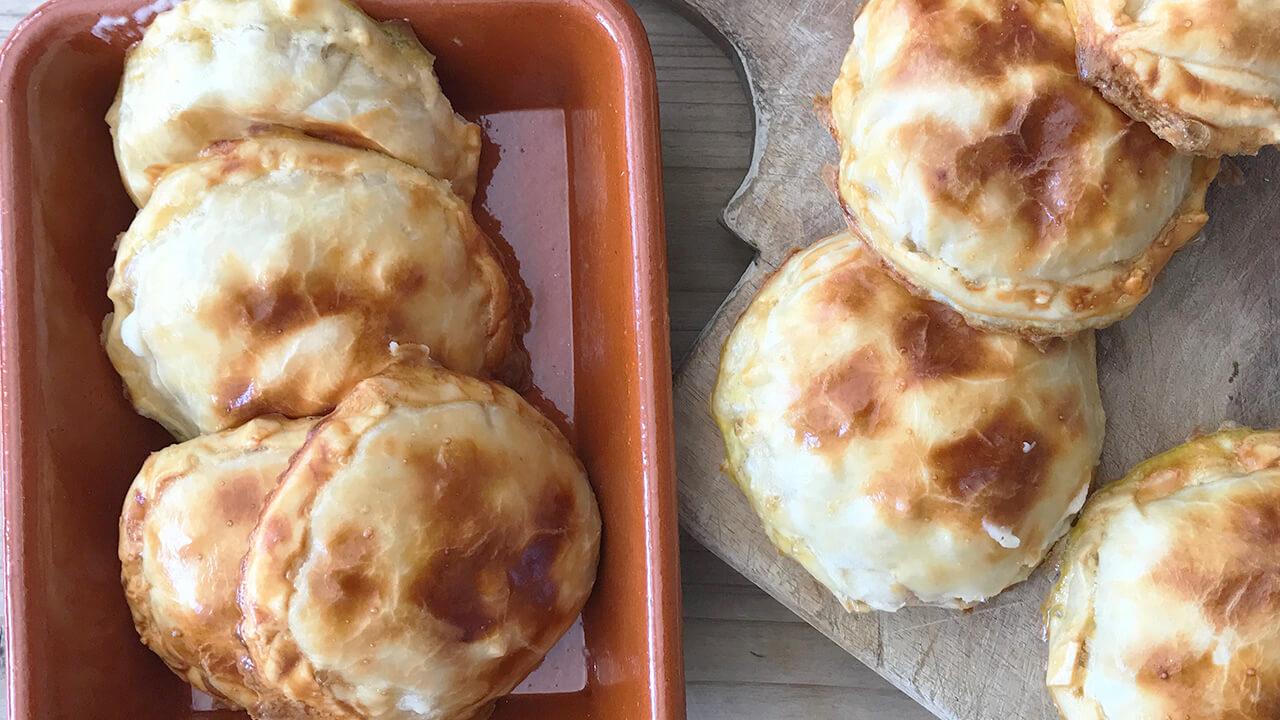 empanadillas de pollo al horno