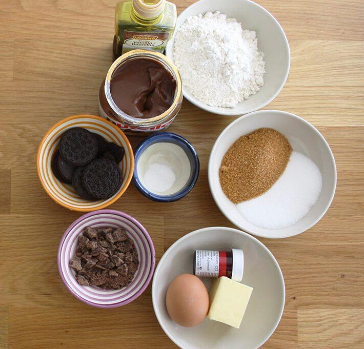 ingredientes cookies nutella