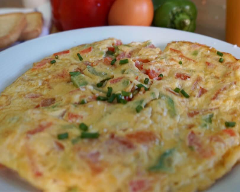 tortilla con vegetales