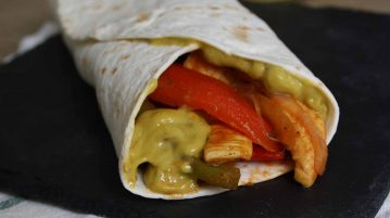 Fajitas con curry