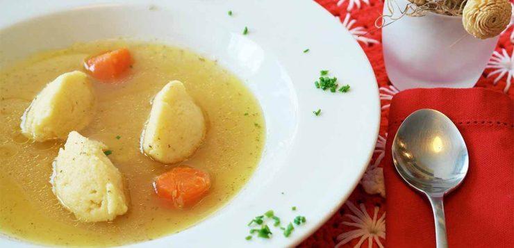 caldo de verduras con jamón