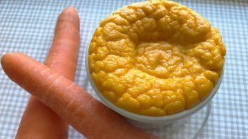 Suflé de zanahorias y queso