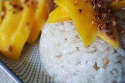 Receta de arroz con mango thai o tailandés